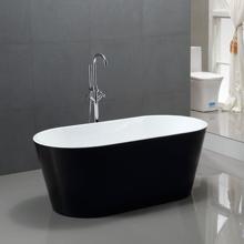 "B815 68"" Black Contemporary Freestanding Bathtub"