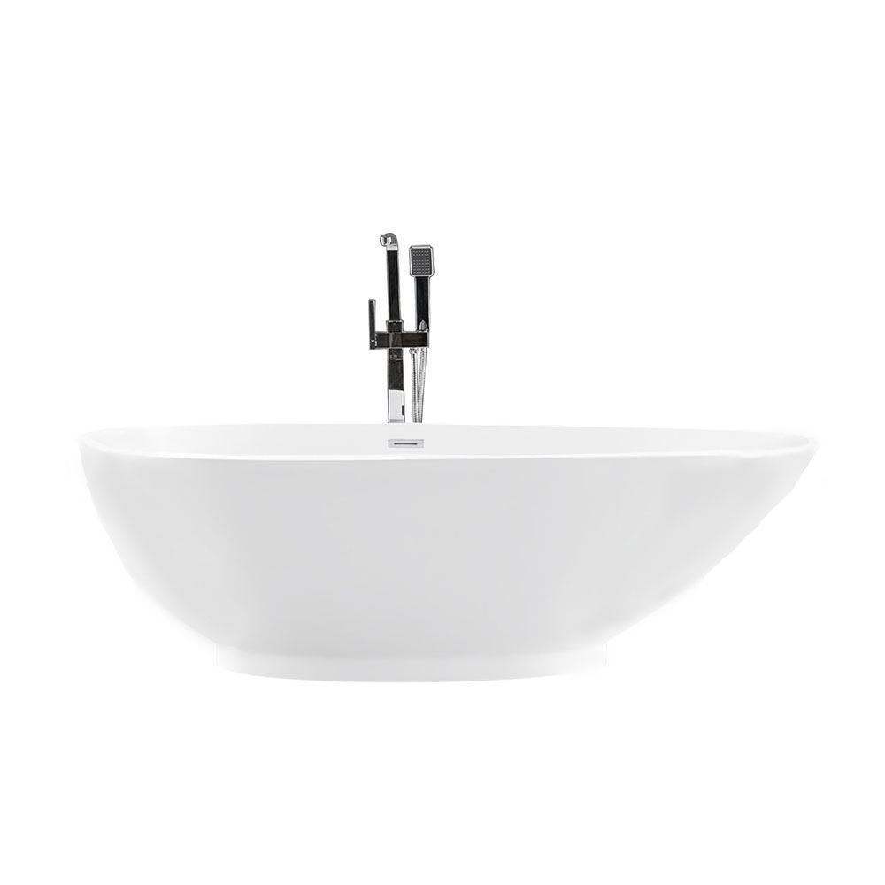 "B906 75"" White Acrylic Contemporary Freestanding Soaking Bathtub"