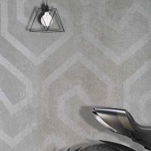 """Ducati 24"""" x 48"""" Italian Modern Gray Tile, Via Emilia Cemento Decoro Mix"""