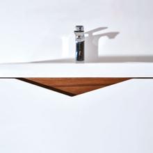 """24"""" Modern Bathroom Single Vanity Set, Miller Glossy White"""
