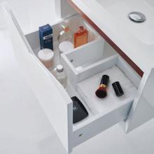 """24"""" Modern Bathroom Single Vanity Soild Playwood Wall Cabinet Miller Glossy White"""
