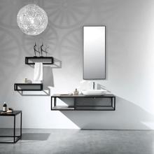 "Picasso 48"" Modern Single Wall Mounted Bathroom Vanity, Sink, Side Frame"