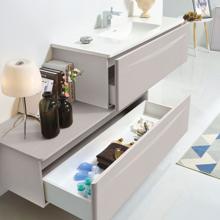"""48"""" Modern Bathroom Vanity Solid Plywood Wall Mounted Vanity Set Vera Beige"""