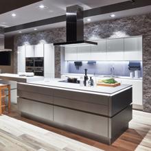 Focus Kitchen, Sand Ultra High Gloss