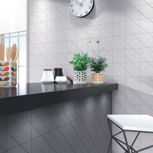 "Spanish Porcelain Tile, Transverse 4 Graphite 6"" x 6"""