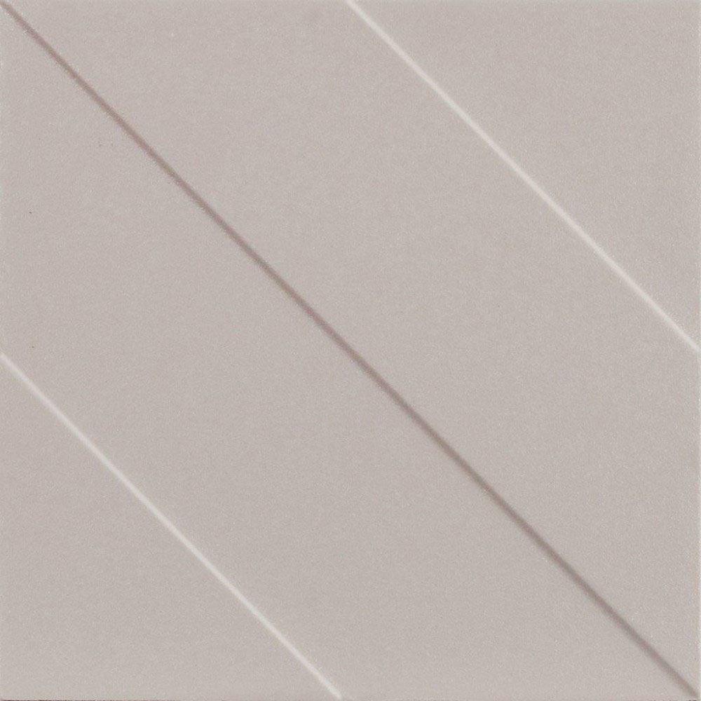 "Transverse 4 Cement, Decorative Wall Tile 6"" x 6"""