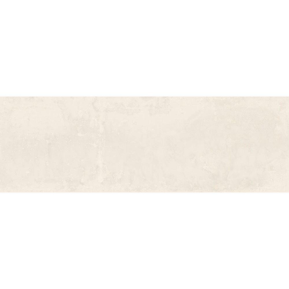 """12"""" X 36"""" White Porcelain Spanish Tile, Fancy"""