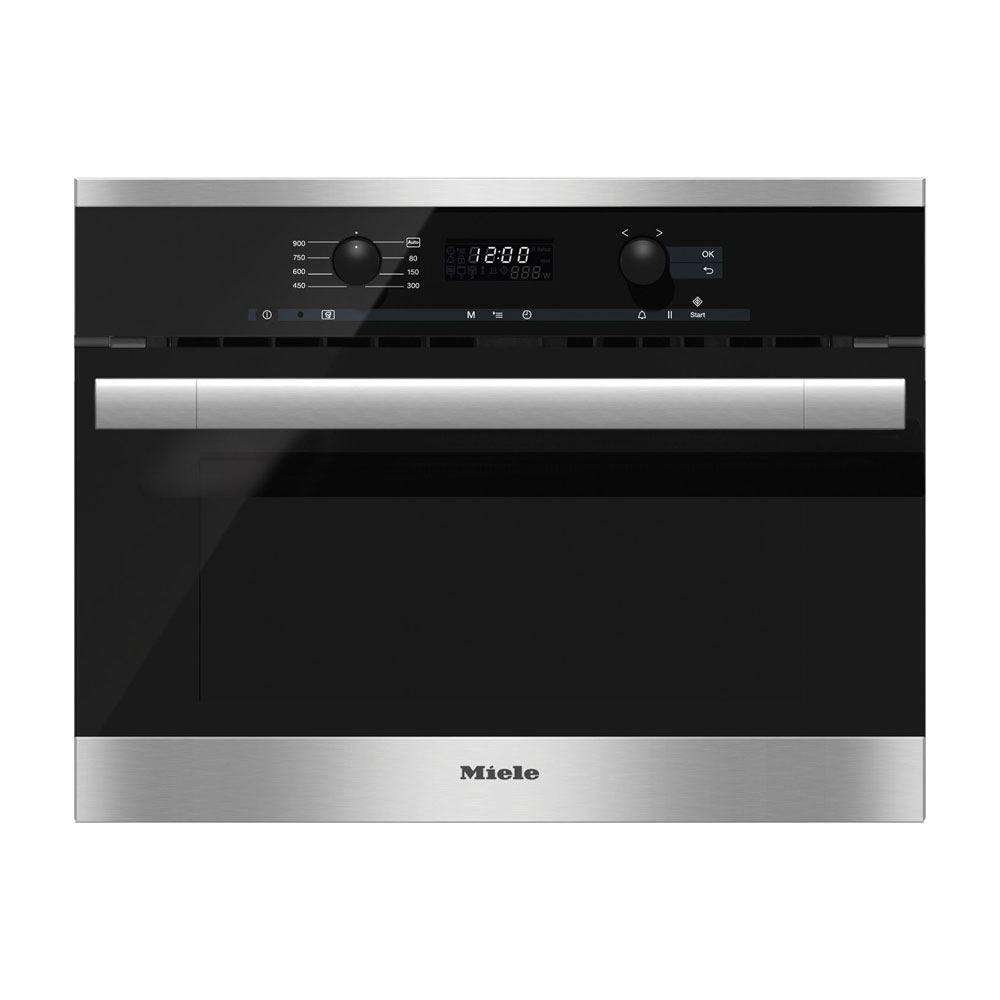 Miele M6160TC Microwave Oven, Clean Touch Steel