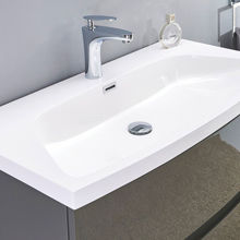 "32"" Modern Solid Plywood Bathroom Vanity Wall Mounted Cabinet Brera Glossy Gray"