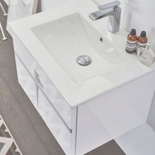 "Mino 24"" White Wall Mounted Modern Single Bathroom Vanity with Sink"