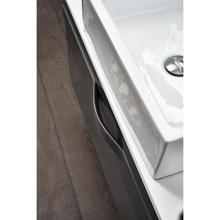 """36"""" Modern Wall Hung Bathroom Vanity, Riel Matt Gray"""