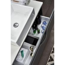 """40"""" Modern Wall Hung Bathroom Vanity, Riel Matt Gray"""