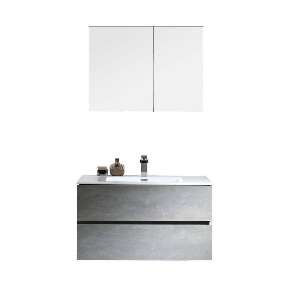 "Contemporary Venice Gray 30"" Single Bathroom Vanity Set"