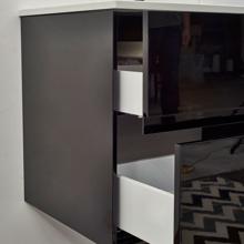"""Glossy Black 32"""" Modern Bathroom Vanity, Leisure"""