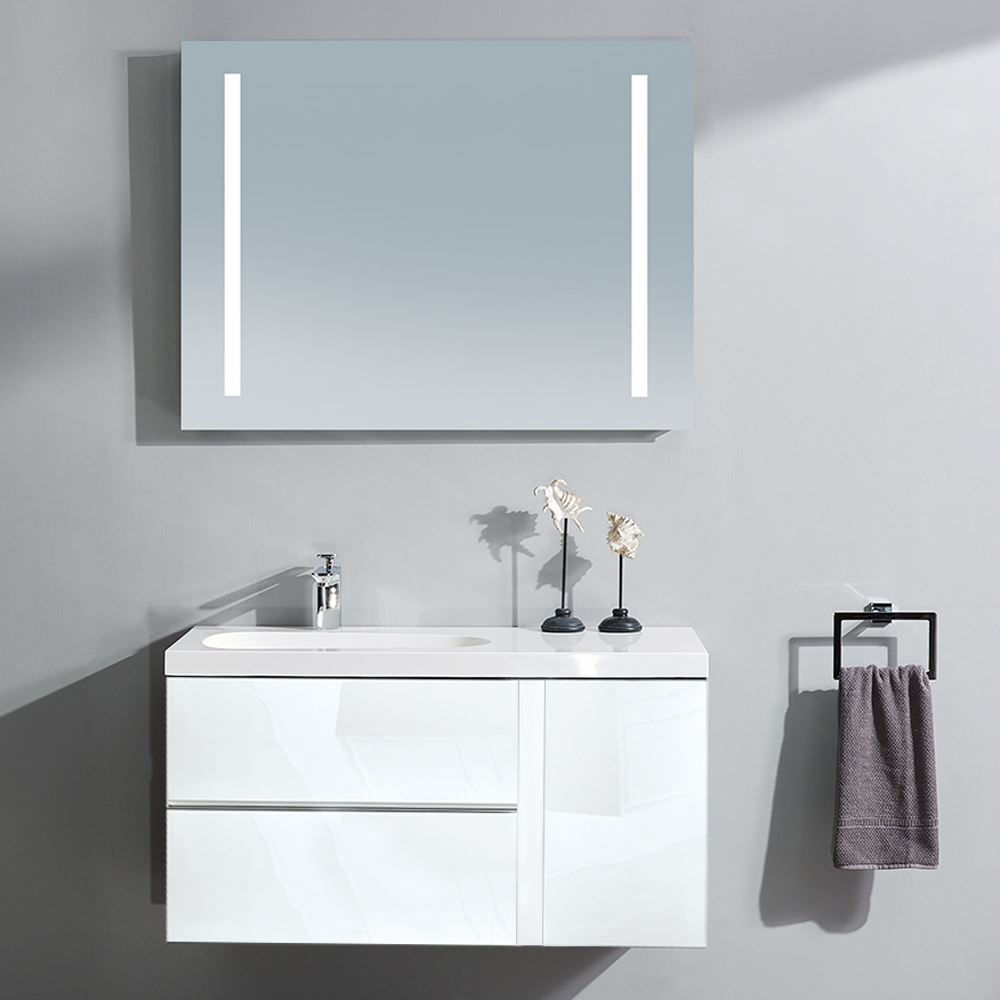 """Mistra 30"""" Wall-Mounted Single Bathroom Vanity Cabinet, Glossy White"""