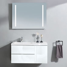 "Mistra 60"" Wall-Mounted Single Bathroom Vanity Sink, Glossy White"