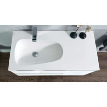 "Mistra 60"" Wall-Mounted Single Bathroom Vanity Set, Glossy White"