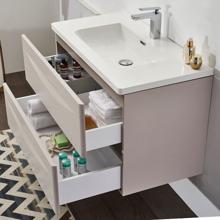 """36"""" Modern Bathroom Vanity Solid Plywood Wall Mounted Cabinet Vera Beige"""