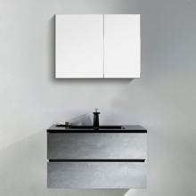"""Contemporary Venice Gray 30"""" Single Bathroom Vanity"""