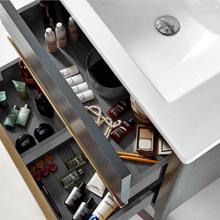 "Amadeus Modern 30"" Single Bathroom Vanity Cabinet, Gray"