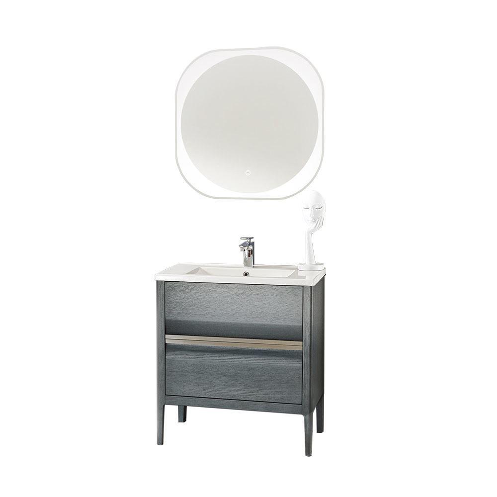 Pleasing Amadeus Modern 30 Single Bathroom Vanity Set With Mirror Gray Download Free Architecture Designs Scobabritishbridgeorg