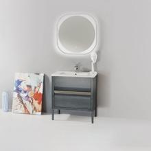 "Amadeus Modern 30"" Single Bathroom Vanity Set, Gray"