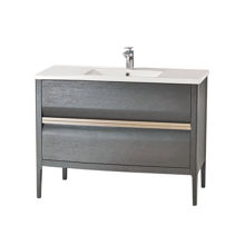 "Amadeus Modern 40"" Single Bathroom Vanity Cabinet, Gray"