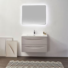 "30"" Modern Bathroom Vanity Solid Plywood Wall Mounted Vanity Set Vera Beige"