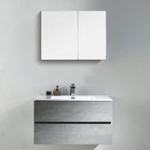 "Contemporary Venice Gray 40"" Bathroom Wall Hung Single Vanity Set"