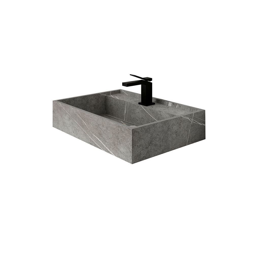 "Senda Gris 24"" Naturally Designed Single Sink"