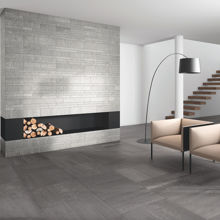 "Granity Air, 4"" x 24"" Matt Silver Porcelain Tile"