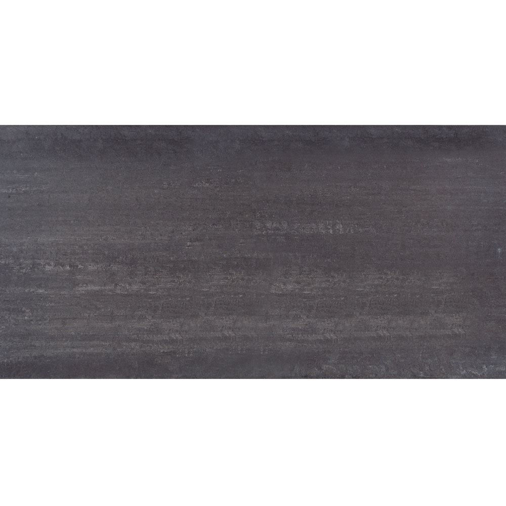 "Granity Air, 24"" x 47"" Bush-Hammered Coal Porcelain Tile"