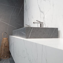 "Senda Gris 46"" Naturally Designed Double Sink"