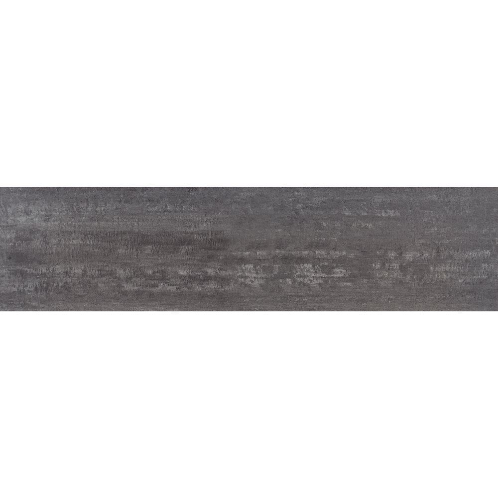"Granity Air, 12"" x 47"" Bush-Hammered Steel Porcelain Tile"