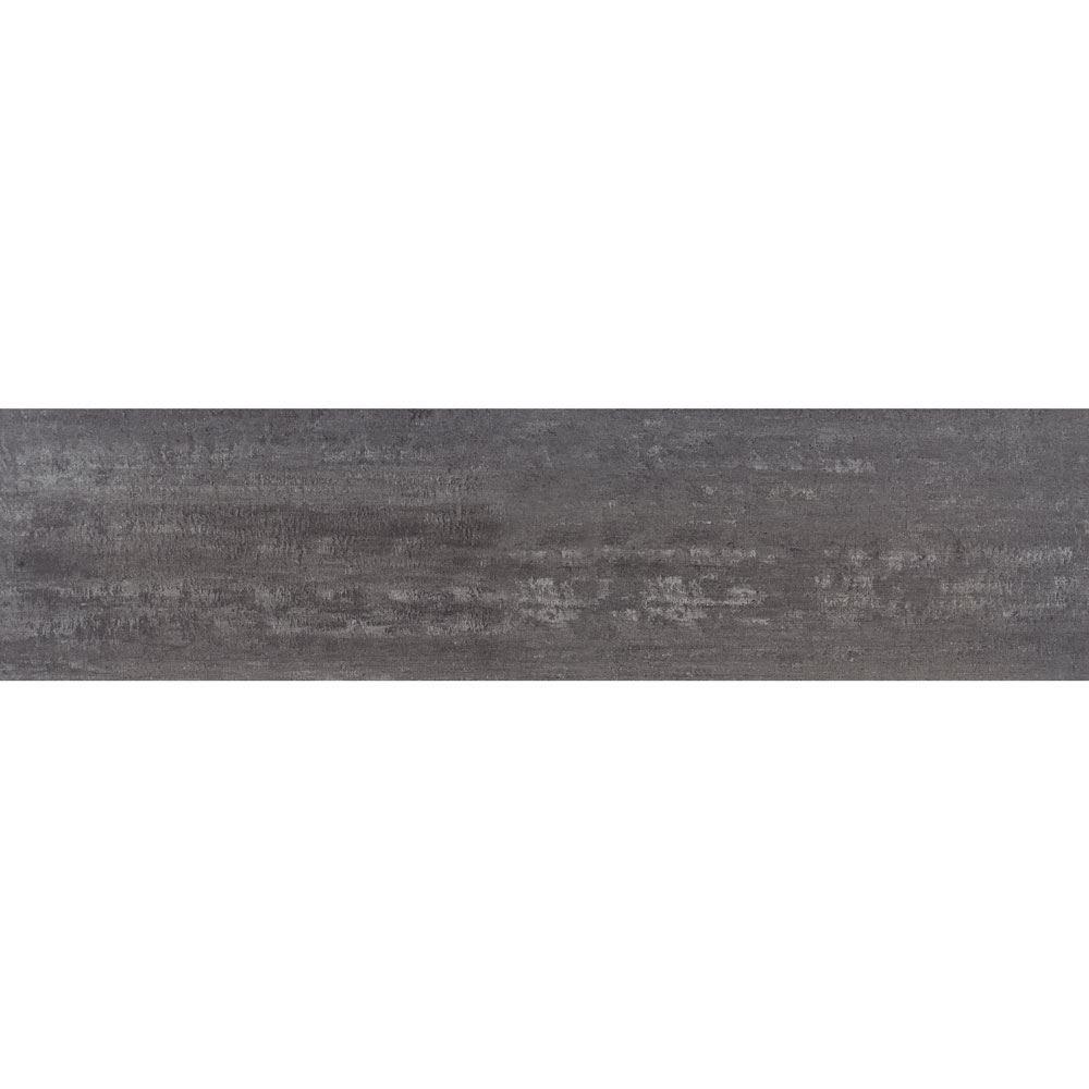 """Granity Air, 12"""" x 47"""" Bush-Hammered Steel Porcelain Tile"""