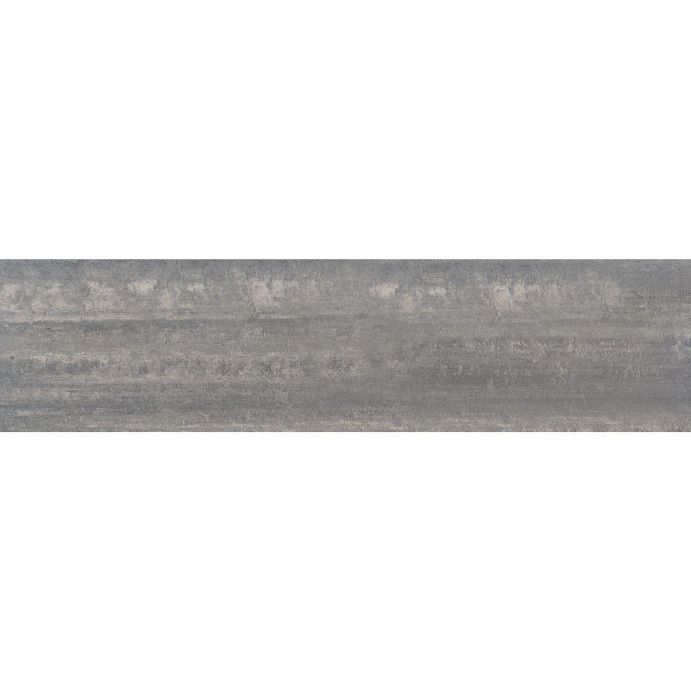 """Granity Air, 12"""" x 47"""" Bush-Hammered Silver Porcelain Tile"""