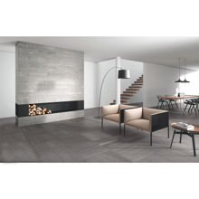 "Granity Air, 12"" x 47"" Matt Silver Porcelain Tile"