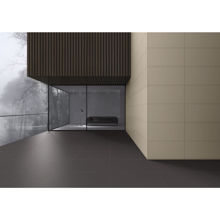 "Premium Porcelain Tile, 12"" x 24"" Solid Matt Black"