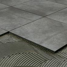 "Deep Gray Porcelain Tile, 24"" x 24"""