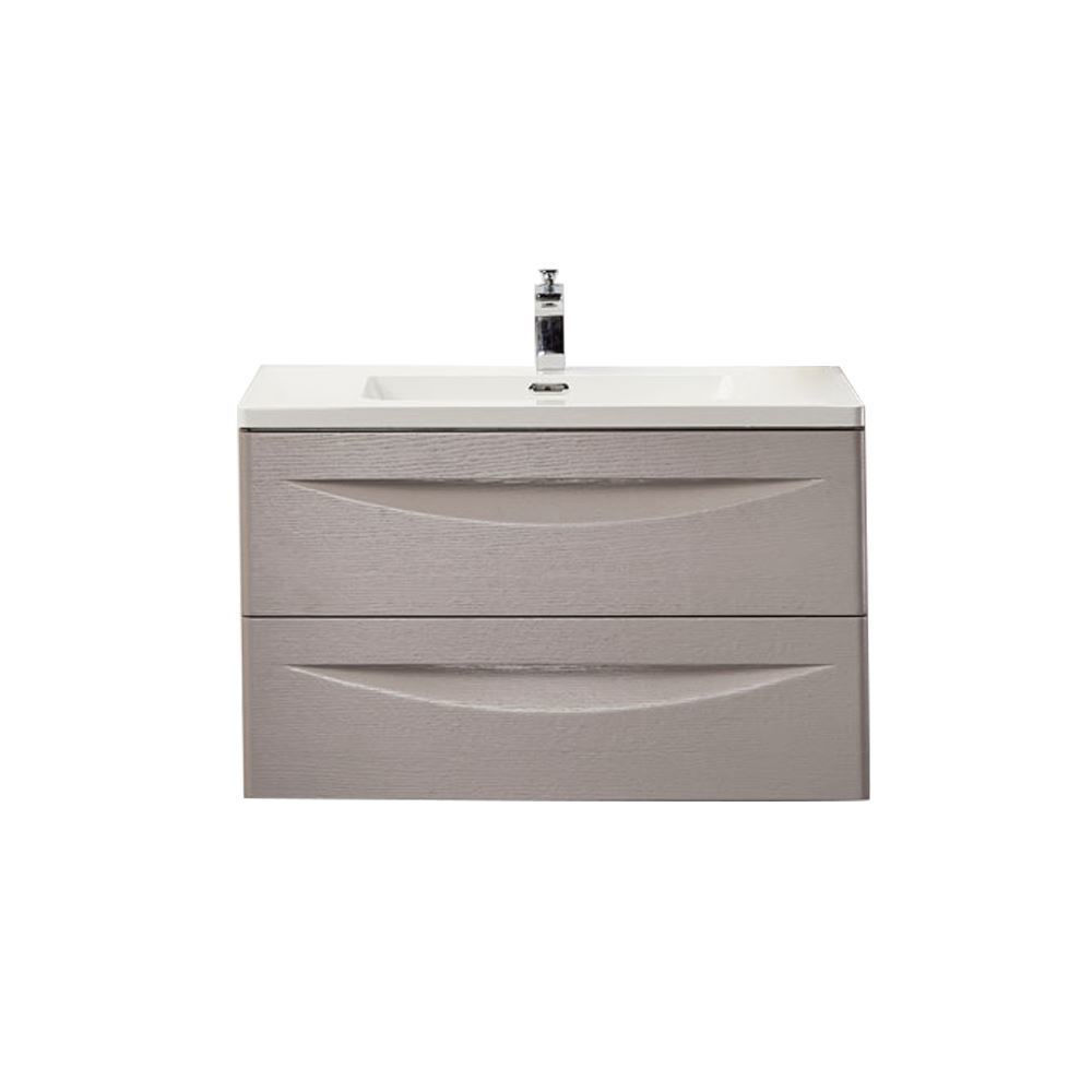 """30"""" Modern Bathroom Vanity Solid Plywood Wall Mounted Cabinet Vera Beige"""