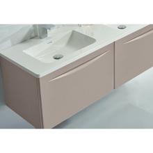 """60"""" Modern Bathroom Vanity Solid Plywood Wall Mounted Cabinet Vera Beige"""