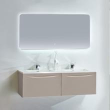 """60"""" Modern Bathroom Vanity Solid Plywood Wall Mounted Vanity Set Vera Beige"""