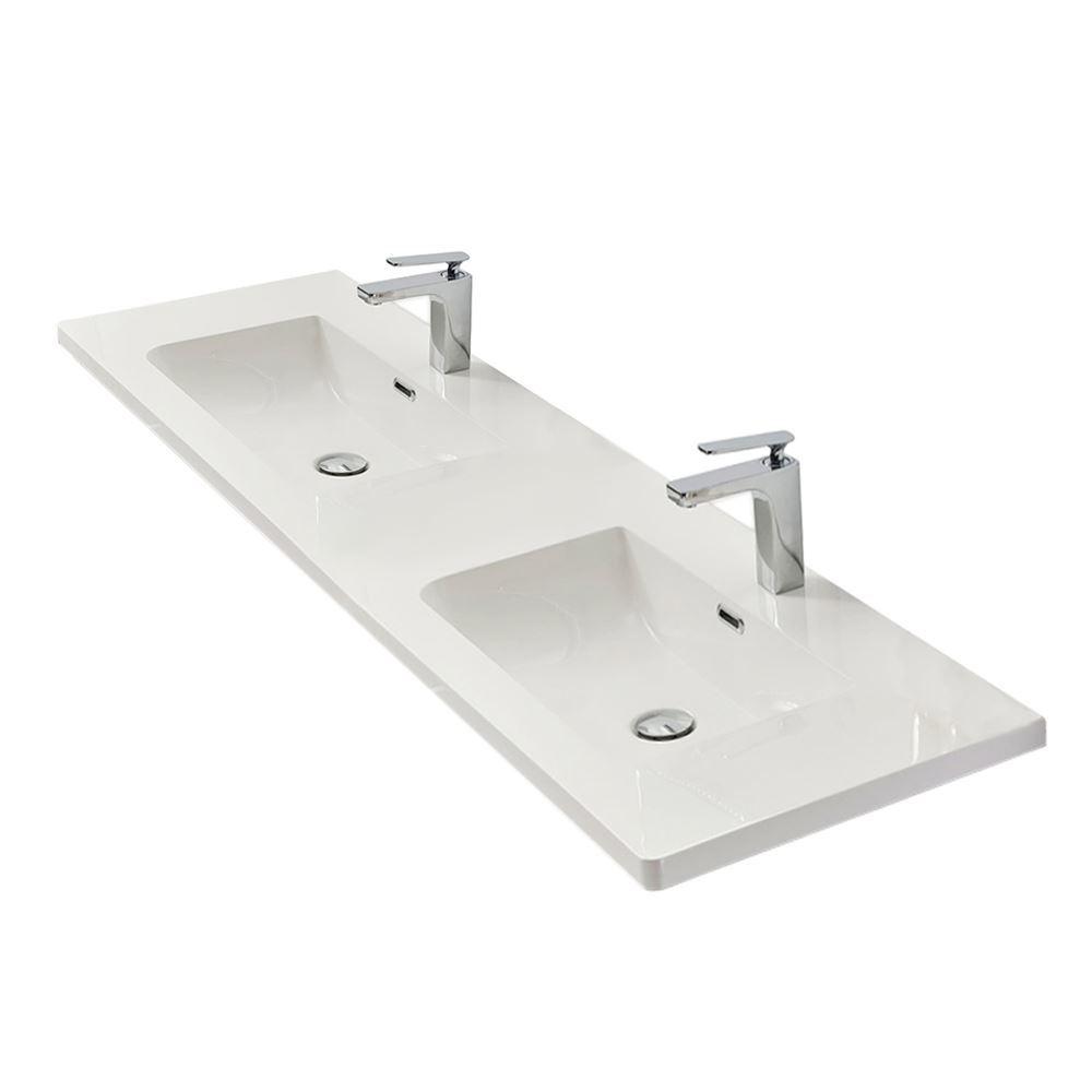 """60"""" Modern Bathroom Vanity Sink Vera Beige"""