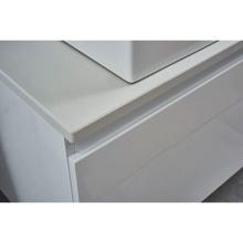 Glossy White Doulbe Wall Hung Bathroom Vanity, Nova Glossy White