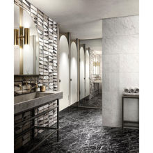 "Valentino Porcelain Tile, Matt Glam Black 24"" x 48"""