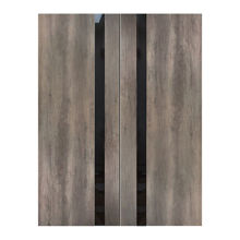 "Fossil Gray Modern Interior Double Door, 60"" x 80"""