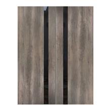"""Fossil Gray Modern Interior Double Door, 72"""" x 96"""""""