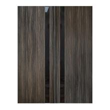 """Ash Gray Interior Glass Panel Double Door, 64"""" x 96"""""""