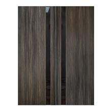 """Ash Gray Interior Glass Panel Double Door, 72"""" x 96"""""""