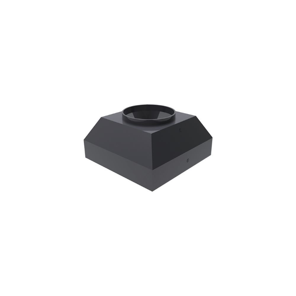 Aluminium Post Top Light Square Base Cover